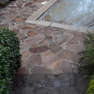 Pool side stone after pressure washer