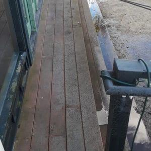 Wood Deck before pressure washing
