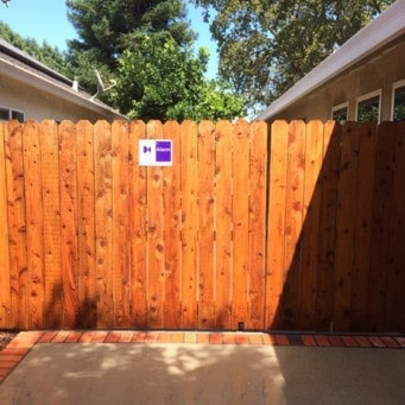After Pressure Washing Service Clean Fence