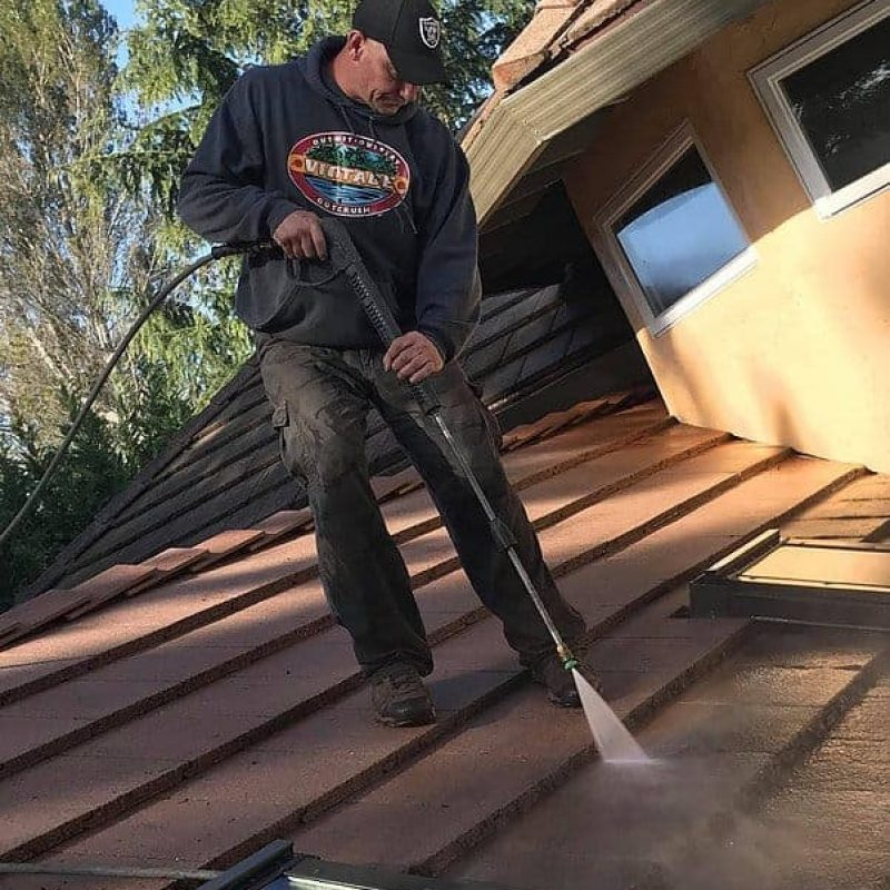 rooftop pressure washing