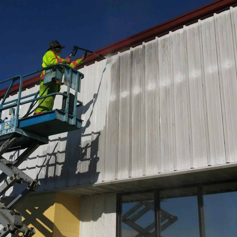 Building during our pressure washing